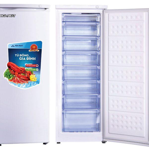 Tủ đông đứng Hòa Phát HCF-220S 216 lít 8 ngăn